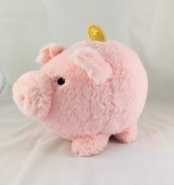 Tirelire cochon peluche rose