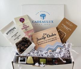Snoep giftbox met kader met tekst naar keuze