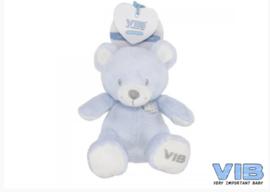 beer zittend blauw Velours VIB