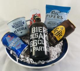 Bier giftbox metTop vent mok met tekst naar keuze