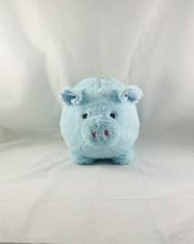 Spaarvarken blauw Peluche