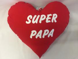 Coussin coeur 60cm «SUPER PAPA»