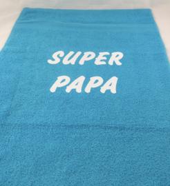 Serviette de bain «SUPER PAPA»