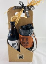 """Bierbox met bierpull """"PA 'S BIER"""""""