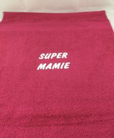 Serviette de bain «super mamie»