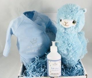 Coffret cadeau  body avec texte de votre choix,lama en peluche et lotion lavante