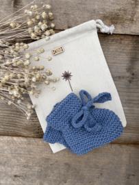 Rosalie - sokjes kleur zachtblauw