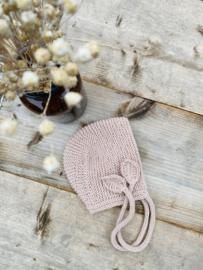 Rosalie - bonnet kleur caramel-roze