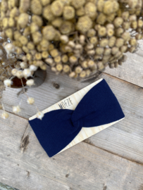 Boho - headband kleur navyblauw - dames
