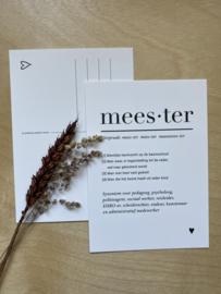 Kaartje Meester!