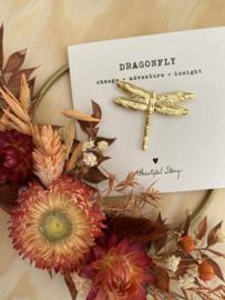Broche DRAGONFLY - goud