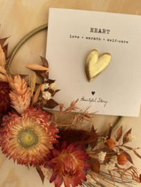 Broche HEART - goud