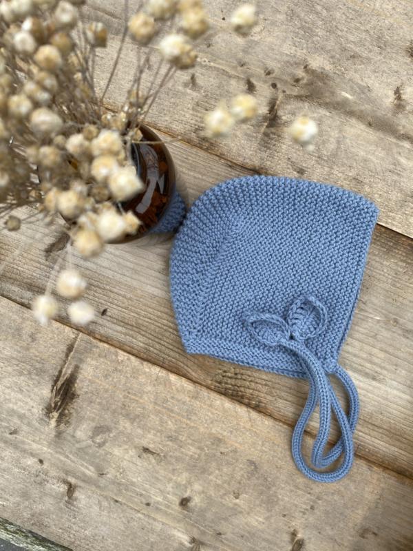 Rosalie - bonnet kleur zachtblauw