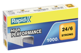Rapid Nietjes 24/6 gegalvaniseerd strong pak a 1000 stuks