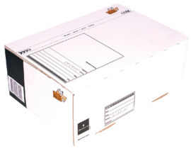 Cleverpack Postpakketbox 4 305X215X110MM Wit