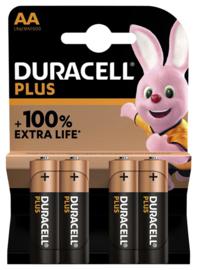 Duracell Batterij Plus AA pak a 4 stuks