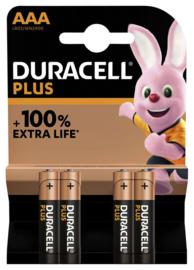 Duracell Batterij  Plus AAA pak a 4 stuks