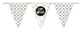 Gouden vlaggenlijn Happy Birthday 10 meter