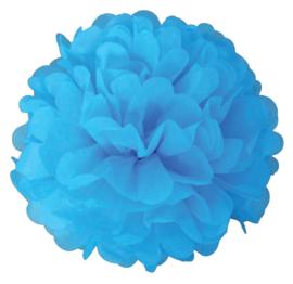 Pompon blauw 2 stuks