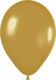 Gouden ballonnen 10st. rond