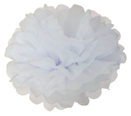 Pompon wit 2 stuks