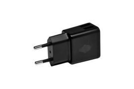 Green Mouse Oplader USB-A 2X 2.4A zwart per stuk