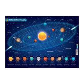 Educatieve onderlegger - Het zonnestelsel