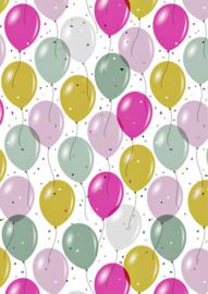 Bruna Cadeaupapier Ballon Mixed 70 x 200 per rol
