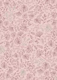 Bruna Cadeaupapier Botanic Roze 70 x 200 per rol
