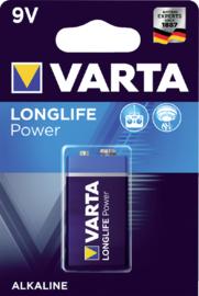 Varta Batterij Longlife Power 9 Volt per stuk