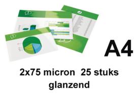 GBC Lamineerhoes  A4 2 x 75 micron pak a 25 stuks