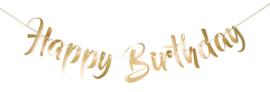Gouden letterslinger Happy Birthday