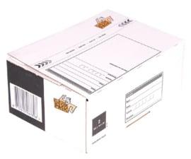 Cleverpack Postpakketbox 2  200X140X80MM Wit