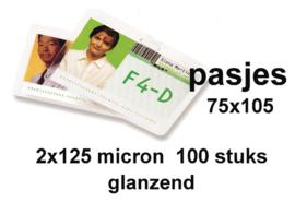 GBC Lamineerhoes  club card 75 x 05 mm 2 x 125 micron pak a 100 stuks