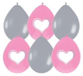 Baby ballonnen meisje 6 stuks