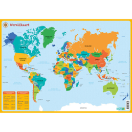 Educatieve onderlegger - De wereldkaart