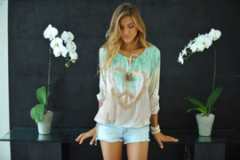 Blouse Peace Heart Tie Dye The Beach