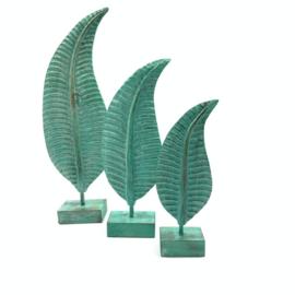 Set standaard houten bladeren