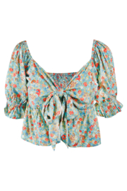 Blouse Brigitte Poppy Rose Aqua