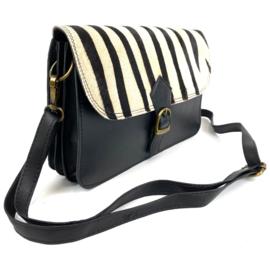 Big Shoulder Bag Zebra Flap