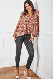 Last Queen - Bohemian blouse Red