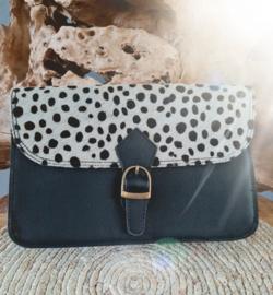 Big Shoulder Bag Dots Flap