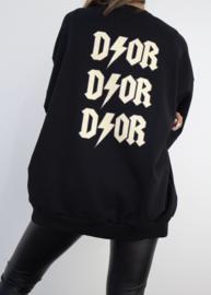 Oversized Sweater Black/Gold