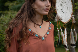 Blouse Jamie Wood-Aqua Stone-Multi beads Terra
