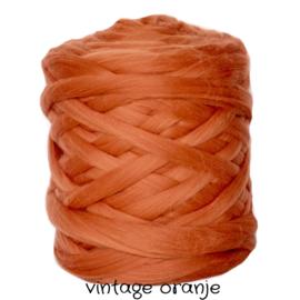 XXL merino lontwol vintage orange