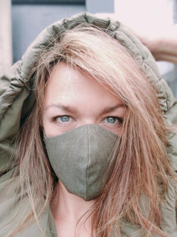 VETH - DENIM GREEN ARMY | MOOIE MONDKAPJES