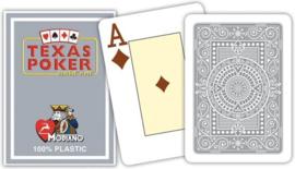 Modiano Speelkaarten Texas Poker Grijs 100% Plastic Jumbo Index