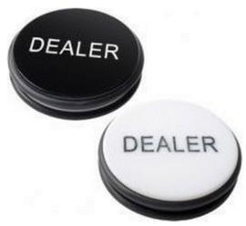Dealer Button XXL Zwart/Wit