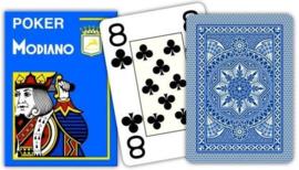 Modiano Cristallo Jumbo 4 index Blauw 100& Plastic