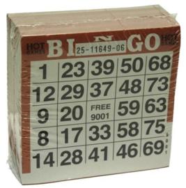 Bingokaarten pak 500 stuks Bruin